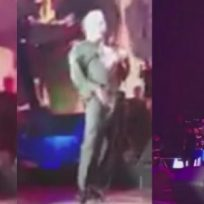 Luis Miguel no logró disimular un incómodo momento durante su concierto