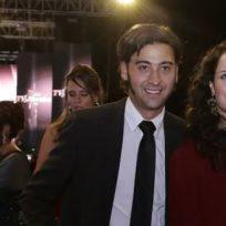 Foto: Varitek Sánchez y su esposa Estefanía Godot. (COLPRENSA.)