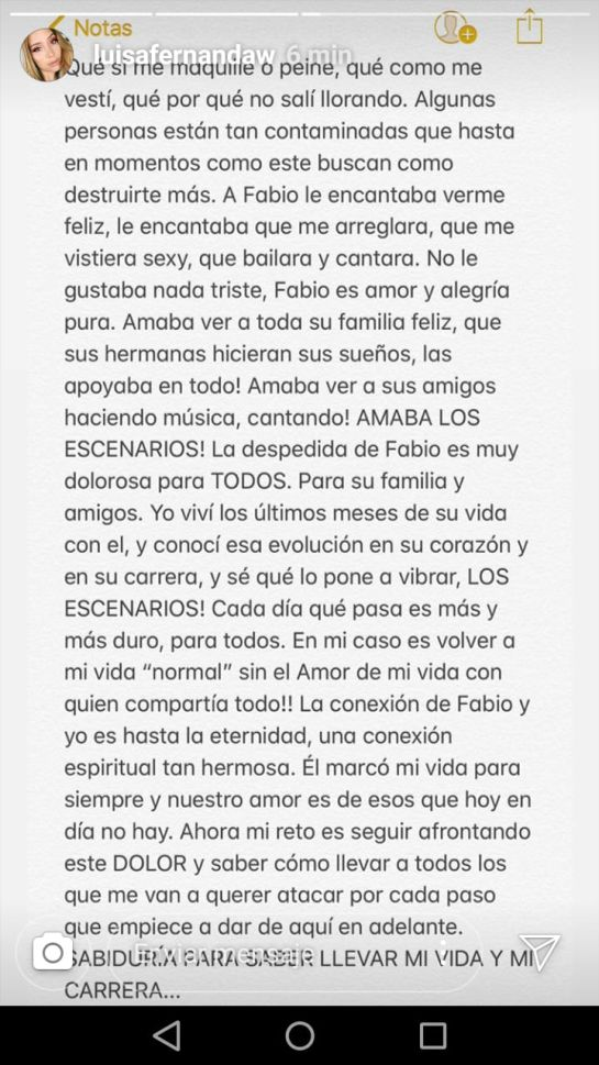 Luisa Fernanda W responde a comentarios sobre muerte de Legarda - Imagen 1