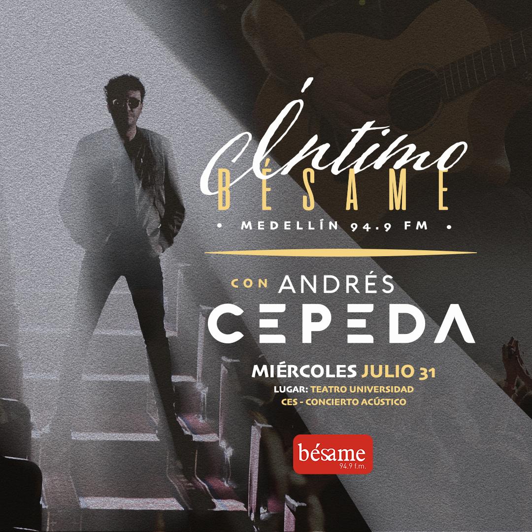 ¡Muy pronto! Íntimo Bésame con Andrés Cepeda - Imagen 1
