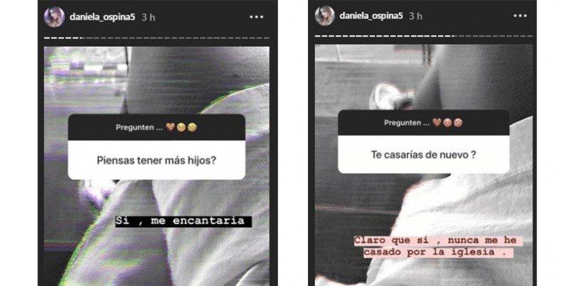 daniela preguntas en Instagram-quiere tener otro hijo