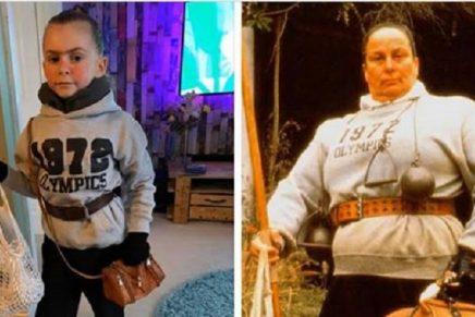 Una niña en Inglaterra se disfrazó de 'Tronchatoro' y ganó un concurso
