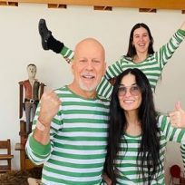¡Con mucho amor! Demi Moore pasa la cuarentena con Bruce Willis y su esposa