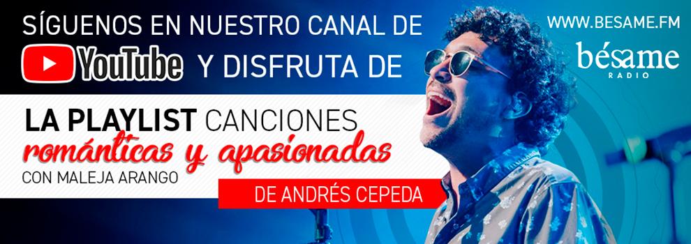 Canciones románticas y apasionadas de Andrés Cepeda