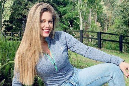 Lorna Cepeda mostró el momento cuando se realizó la prueba de COVID-19