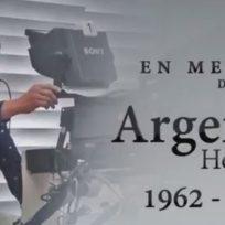 Entre lágrimas, compañeros de Argemiro Hernández se despidieron de este gran camarógrafo