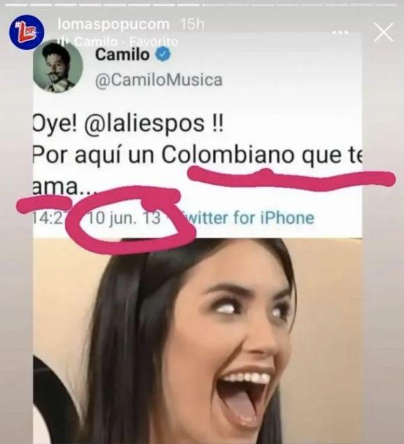Se filtran mensaje de románticos que Camilo Echeverry le enviaba a Lali Espósito