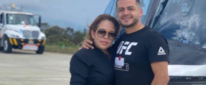 Sandra Barrios, ex de Jessi Uribe, presume a su novio con viaje en helicóptero