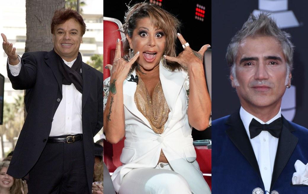Reviven video del encuentro de Alejandra Guzmán, Juan Gabriel y Alejandro Fernández