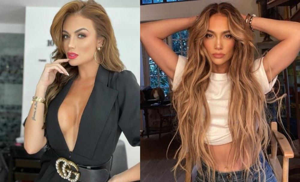 En redes comparan a Sara Uribe con JLo por una foto mostrando la cola
