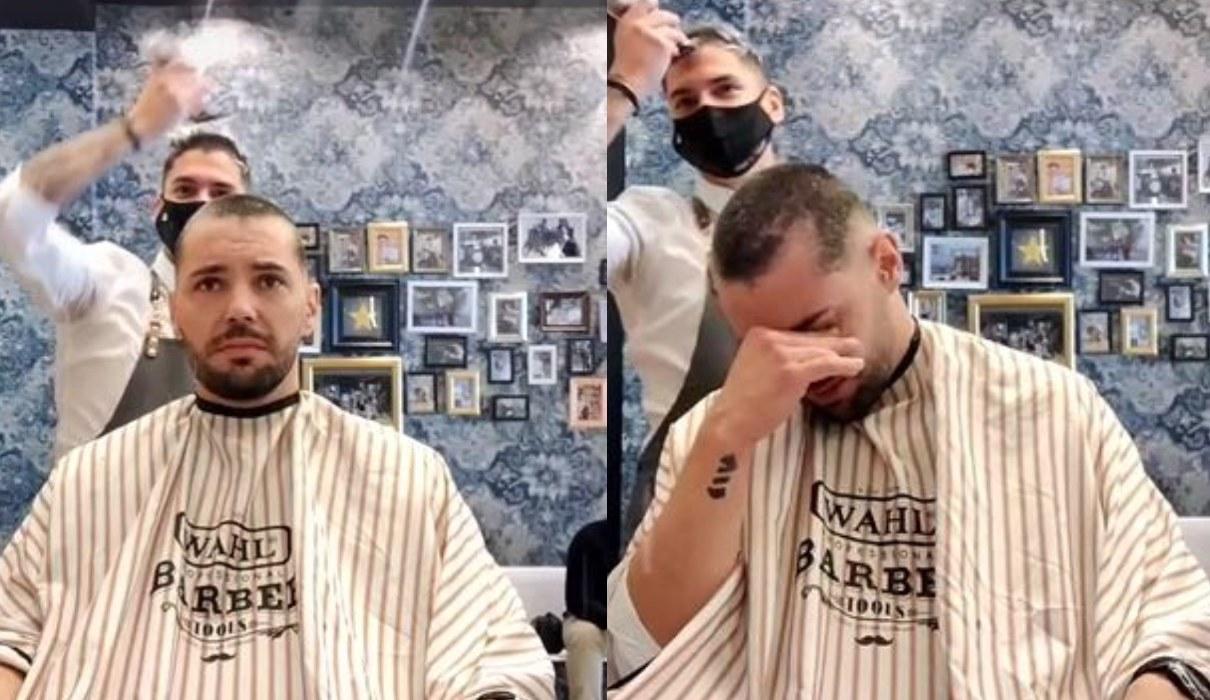 Hombre rompe en llanto al ver que su amigo se rapa para apoyarlo en su lucha contra el cáncer