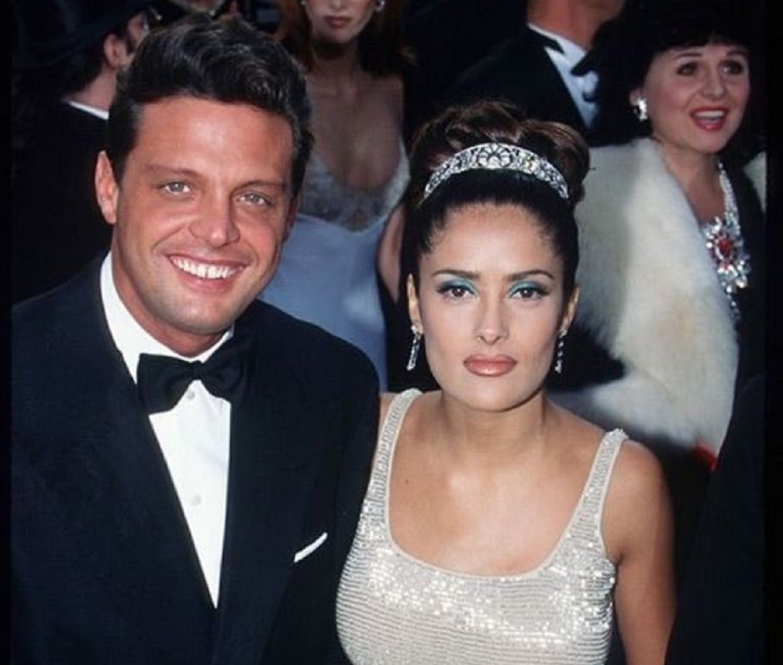 Reviven fotos de Luis Miguel y Salma Hayek en la alfombra roja de los Premios Óscar