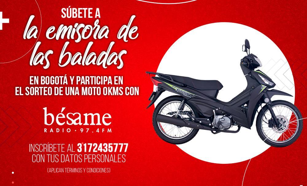 Gánate un moto con Bésame Bogotá