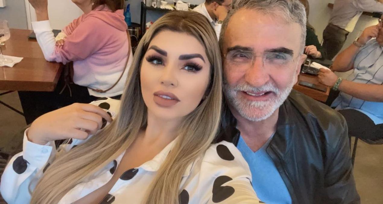 Vicente Fernández Jr. celebró aniversario con su novia