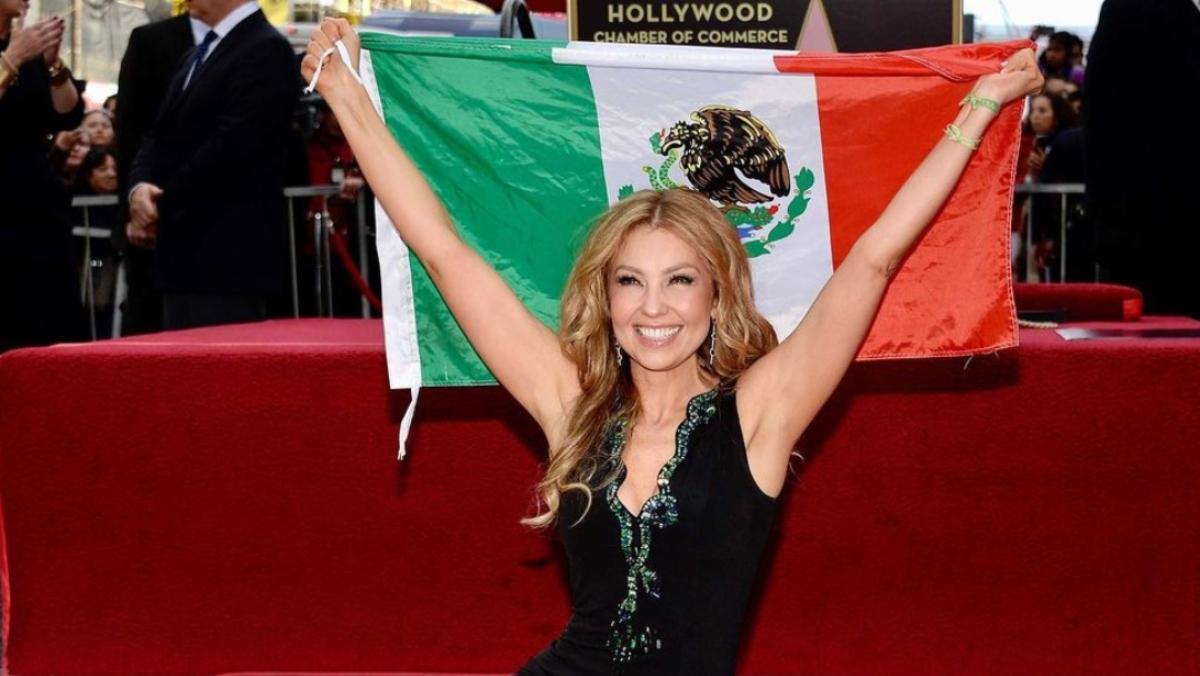 Thalía estrella en el Paseo de la Fama de Hollywood